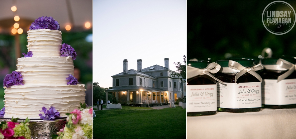 Lyman Estate Massachusetts Wedding Details Cake Exterior Favors