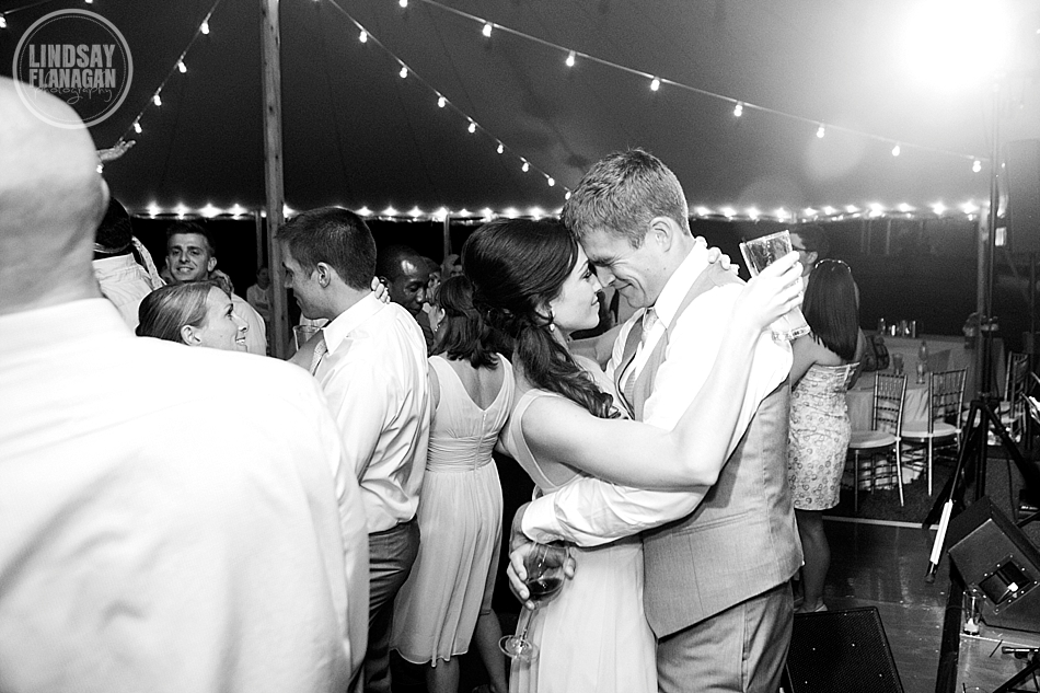 Lyman Estate Wedding Reception Tent Dance Floor