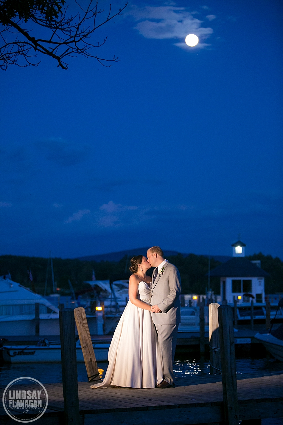 Wolfeboro-Inn-New-Hampshire-Wedding-Portrait-Night-Lake