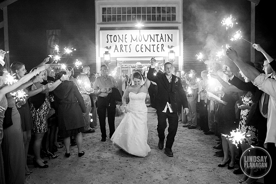 Stone-Mountain-Arts-Center-Maine-Wedding-Sparkler-Exit