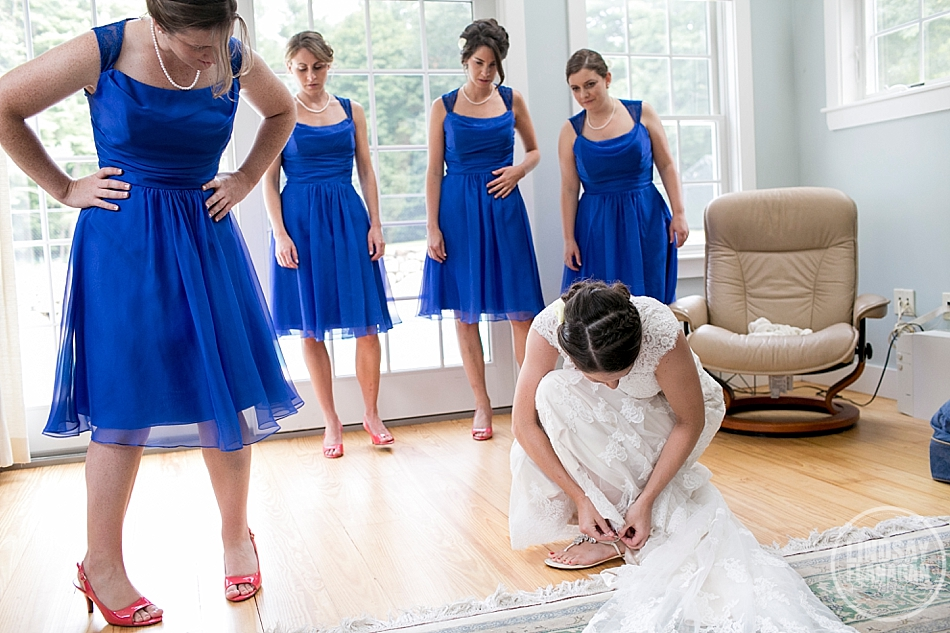 Rye New Hampshire Wedding Photographer Bride Bridesmaids Getting Ready