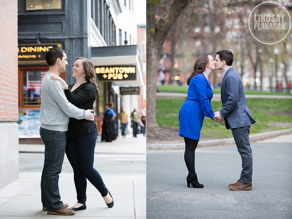 Boston Common City Engagement Wedding Photographer
