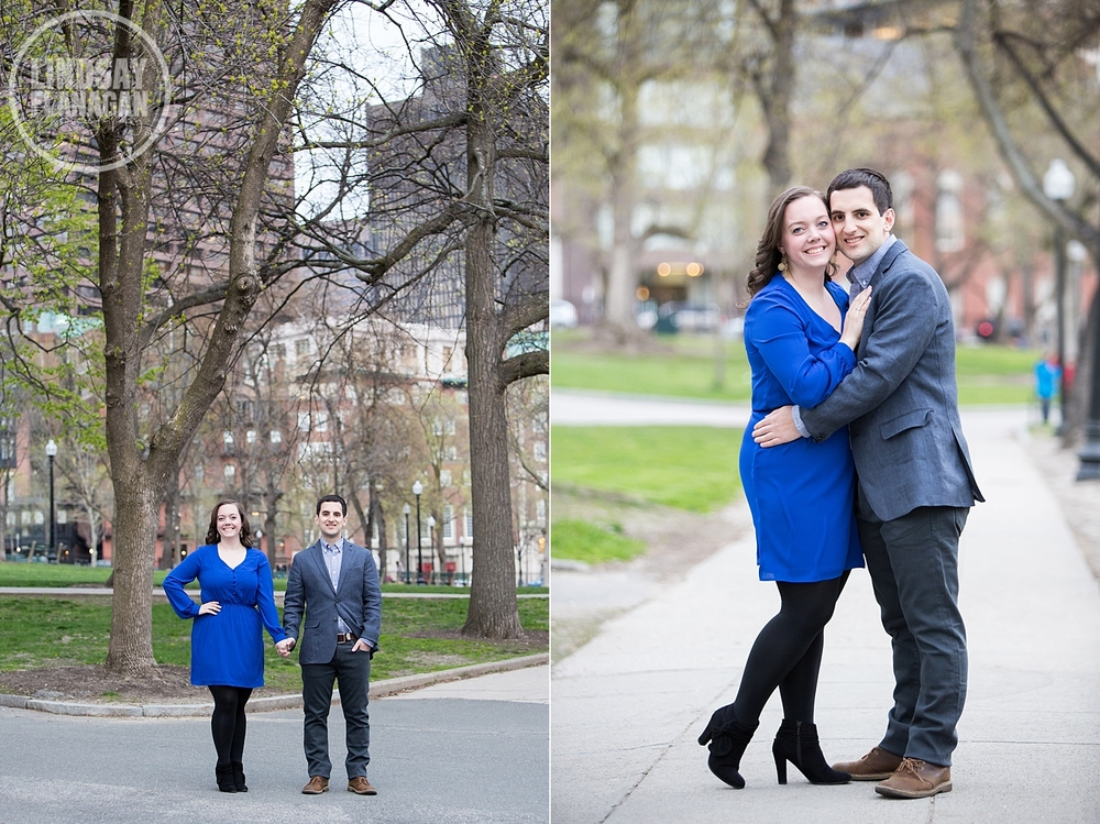 Boston Common City Engagement Session Photography