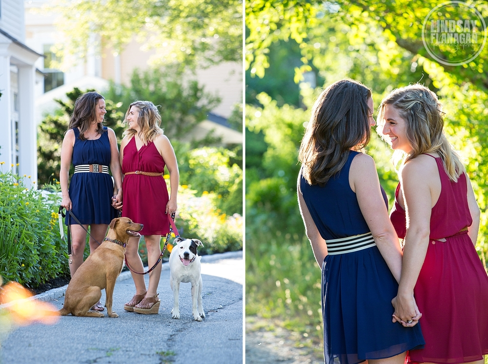 Same Sex Lesbian Newburyport Engagement Session