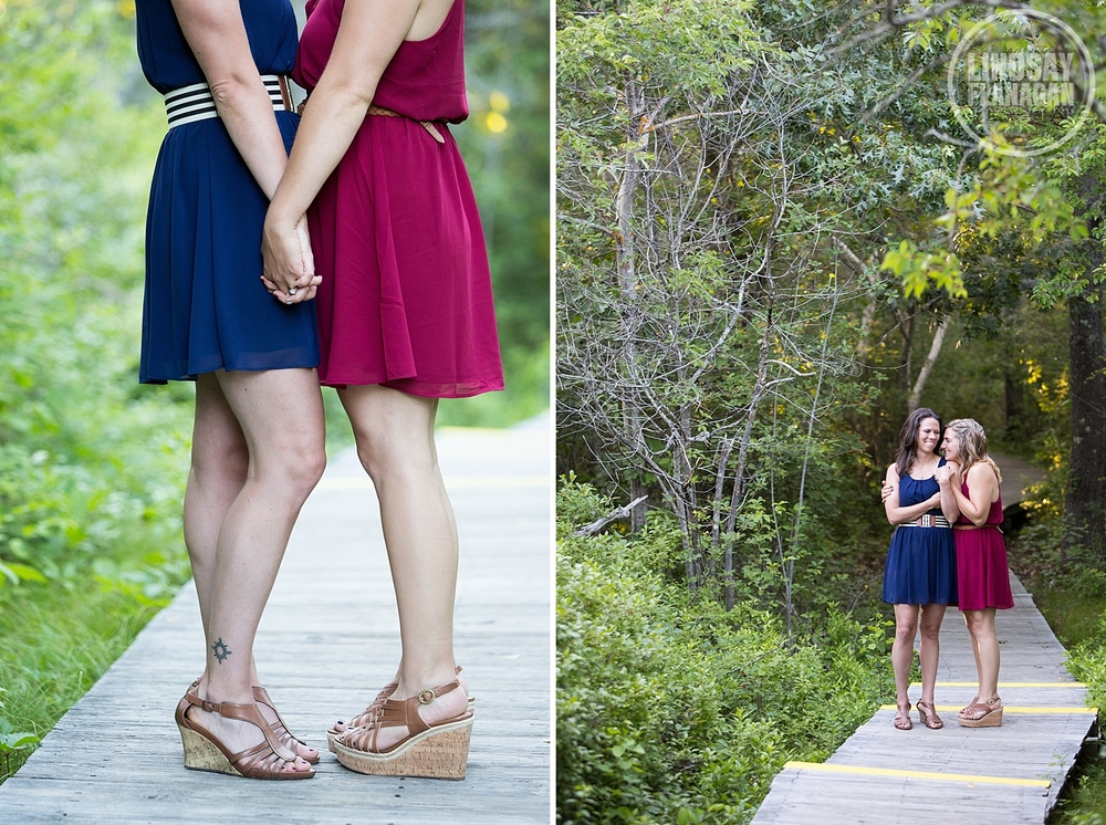 Same Sex Engagement Photographer Plum Island Newburyport
