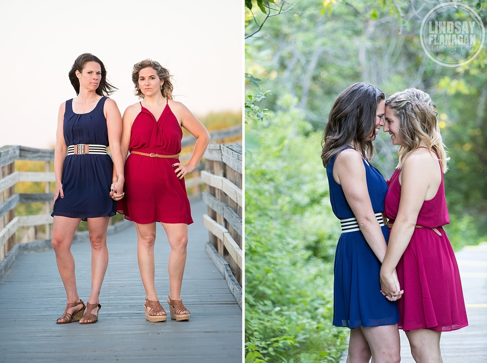 Same Sex Gay Friendly Engagement Session Plum Island Massachusetts