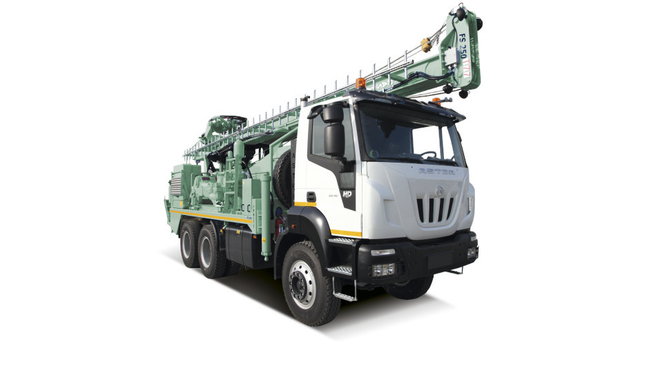A heavy-duty unit for water wells and geothermal drilling.