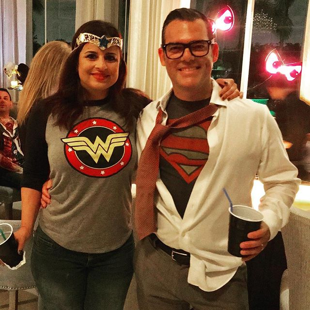 #landscape by day #superhero by night! #supercouple I went full #nakedface  for this one.