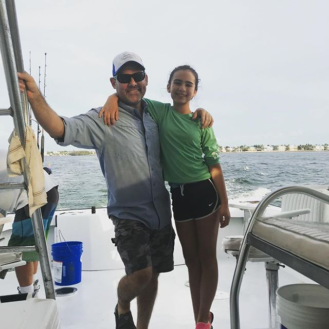 Best thing in the world time with my daughter! #happyfathersday to all the dads out there. #fishing #keylargo
