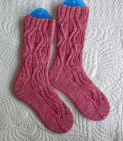 JillRLambert's Watzisname socks knitted with Knitted Goddess 4ply Merino Nylon Sock yarn
