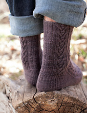 Woodcutter's Socks by Rachel Coopey from Enchanted Knits. Image © Interweave Press.