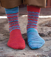 Hansel & Gretel Socks by Rachel Coopey from Enchanted Knits. Image © Interweave Press.