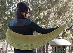 Colubrida Wrap by Angela Hahn from Enchanted Knits. Image © Interweave Press.
