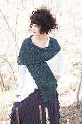 Among the Birches Shawl by Kate Larson from Enchanted Knits. Image © Interweave Press