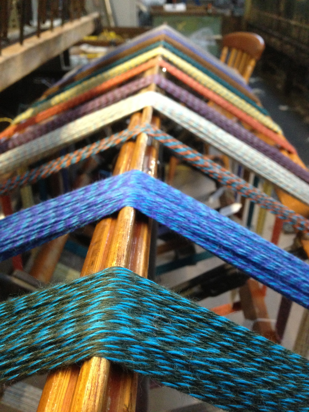 Skeins before twiddling on the skein winder