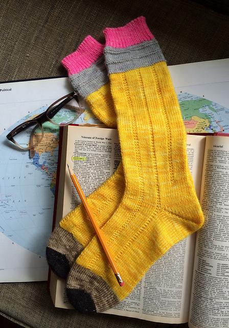 Pattern: No. 2 Pencil Socks by The Yarn Enabler; Photo: TrishKnits