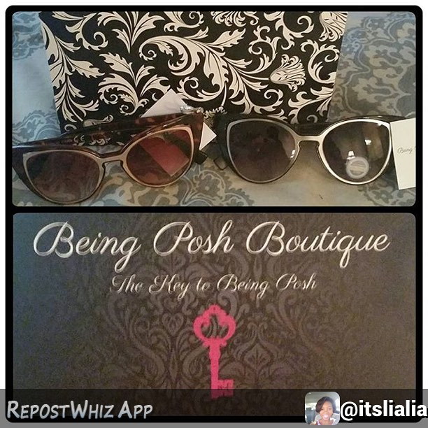 We love our customers!! They are the key to being posh 💅🏾🔑 #Entrepreneur #SmallBusiness #Handmade #Fashion #BusinessWoman #Atlanta #SkegeeEntrepreneur #Etsy #Boutique #Cases #sunglasses #new #spring #summer #beach #boutiques #musthave #style #shoppingtime #shoppingaddict #promo #branding101 #branding #ontrend #shopsmall #like #love  By @itslialia via @RepostWhiz app: When your friend is the plug...@being_posh got me right for #SYAC2016 check out my boo @mzbebelove website for cute sunglasses like mine!