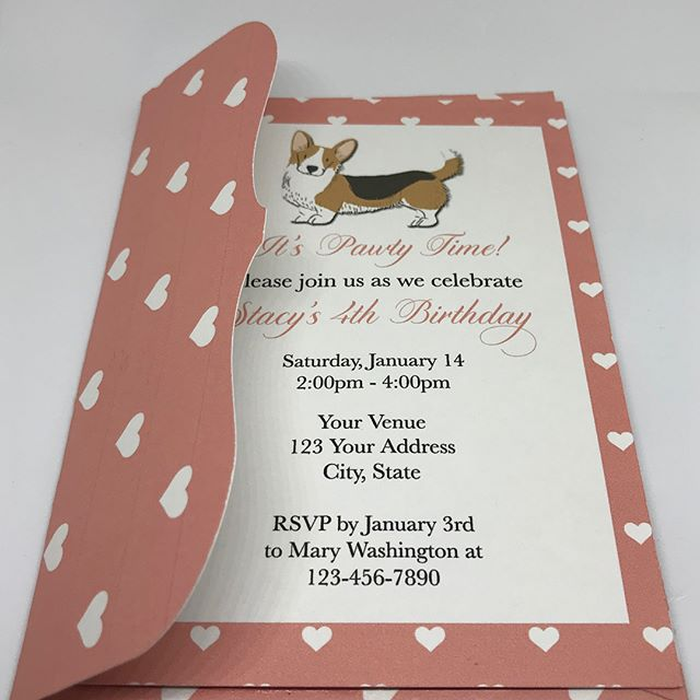Some of our invitations include matching envelopes ❤️🐶 #pawty #party #invitations #dog #puppylove #dogparty