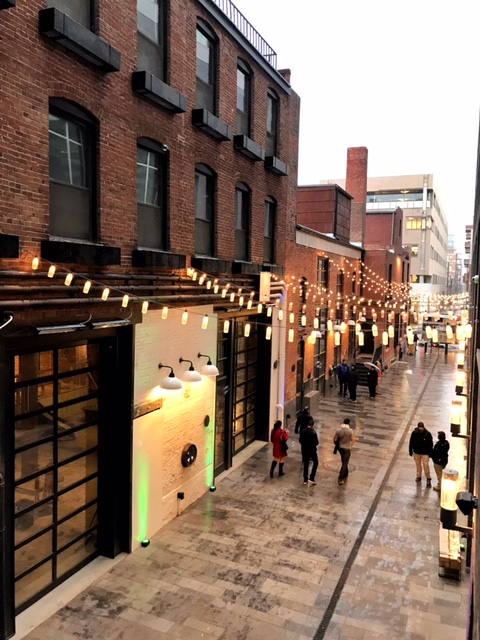 A little snow didn't stop the Dairy Block alley from lookin' bright and shiny!