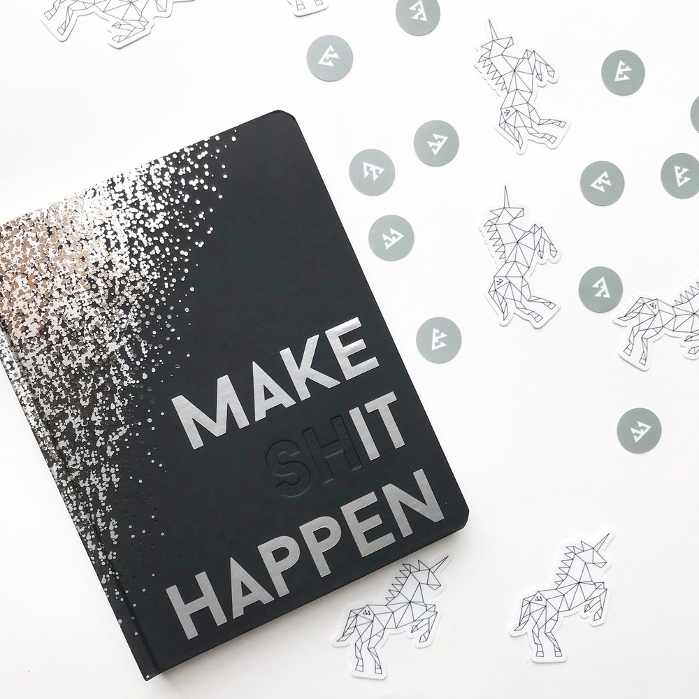 QUICK FACT #2 - We created the Make Shit Happen Planner because we couldn't find a product like it that helped us keep our vision and goals alive all year long. It's changed our lives and the lives of our customers. We also strive for quality – everything we make is made in the USA.