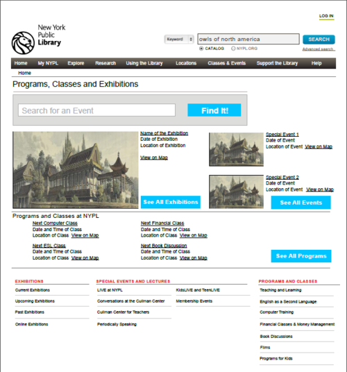 PROGRAMS AND EXHIBITIONS SITE