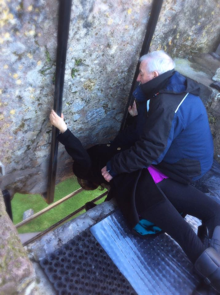 Cindy Kissing the Blarney Stone ... twice!