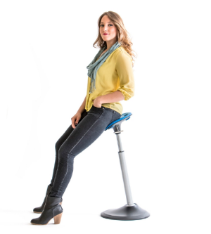 "The Mobis leaning stool from Focal Upright Furniture promises to save you from the dreaded ""sitting disease."""