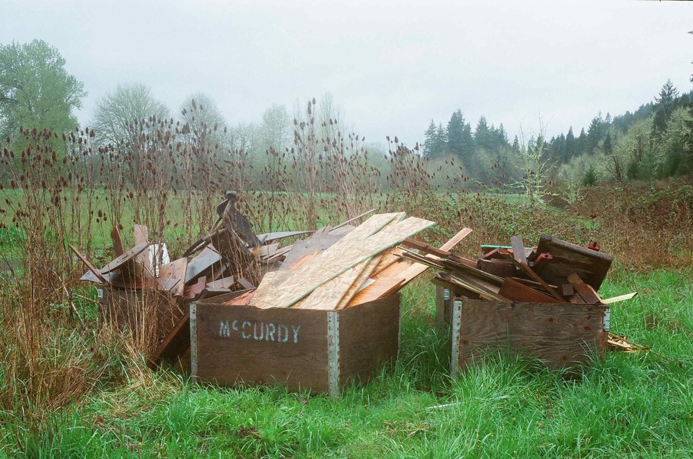 Any wood scraps that contain chemicals, such as paint on the glue used in plywood, are sent to a scrap wood processing facility where they are chipped and used as fuel for industrial processes.