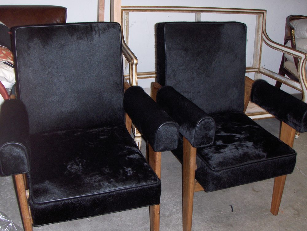 Side Chairs  Hair on hide w/ welt
