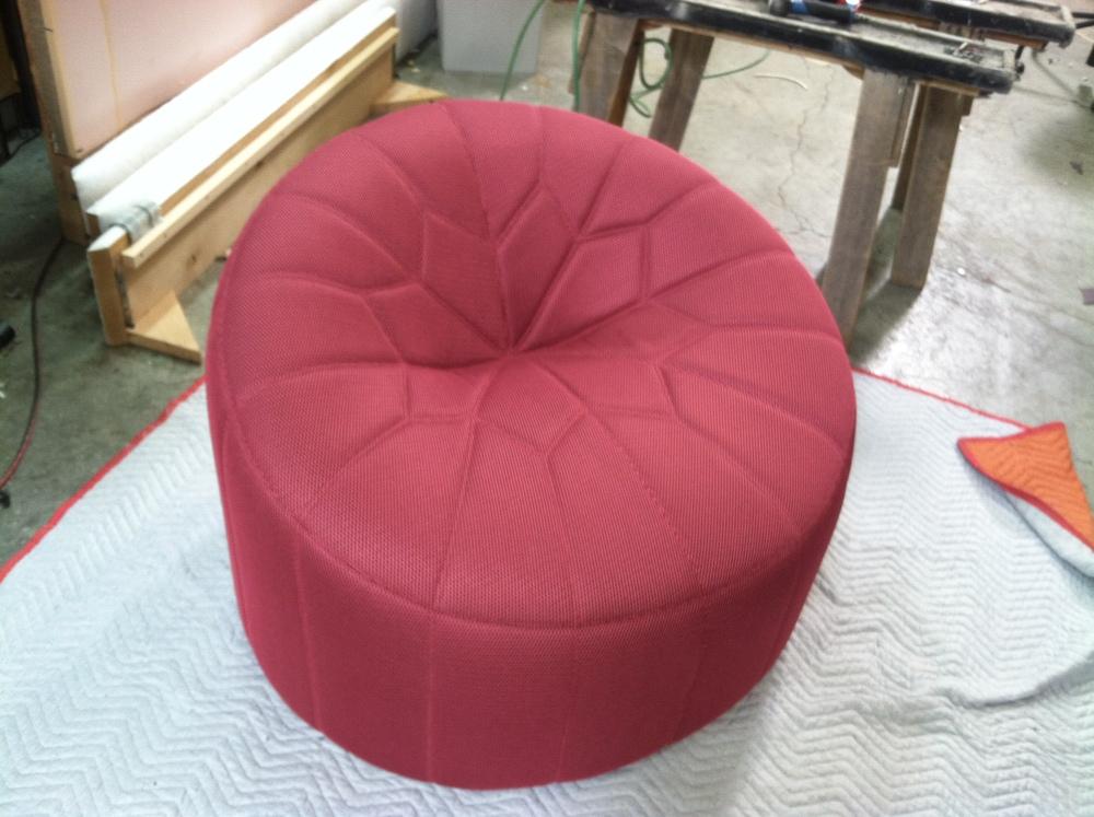 Slipper Chair  Custom stitch design
