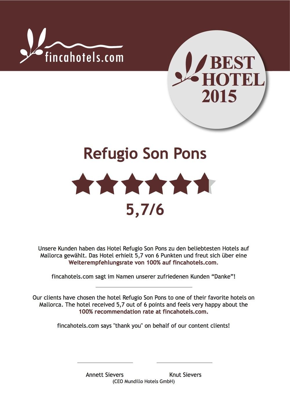 Refugio Son Pons Mallorca - Rezensionen