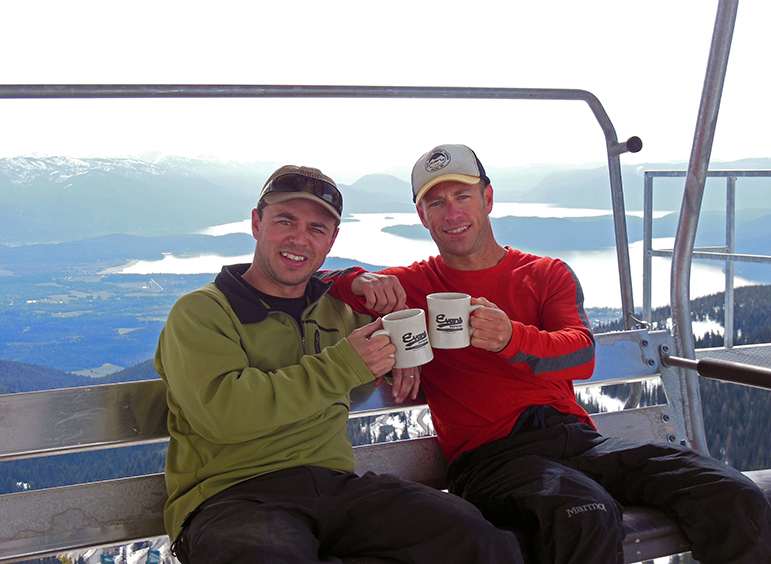 Rick and Randy Evans at Schweitzer Mountain Resort