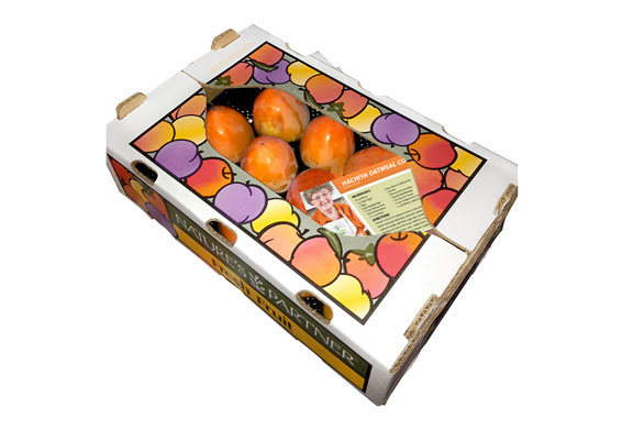 "The Nature's Partner ""Persimmon Power Pack"" features a set of recipes from Mrs. Krause in each box.  Download high resolution image here."