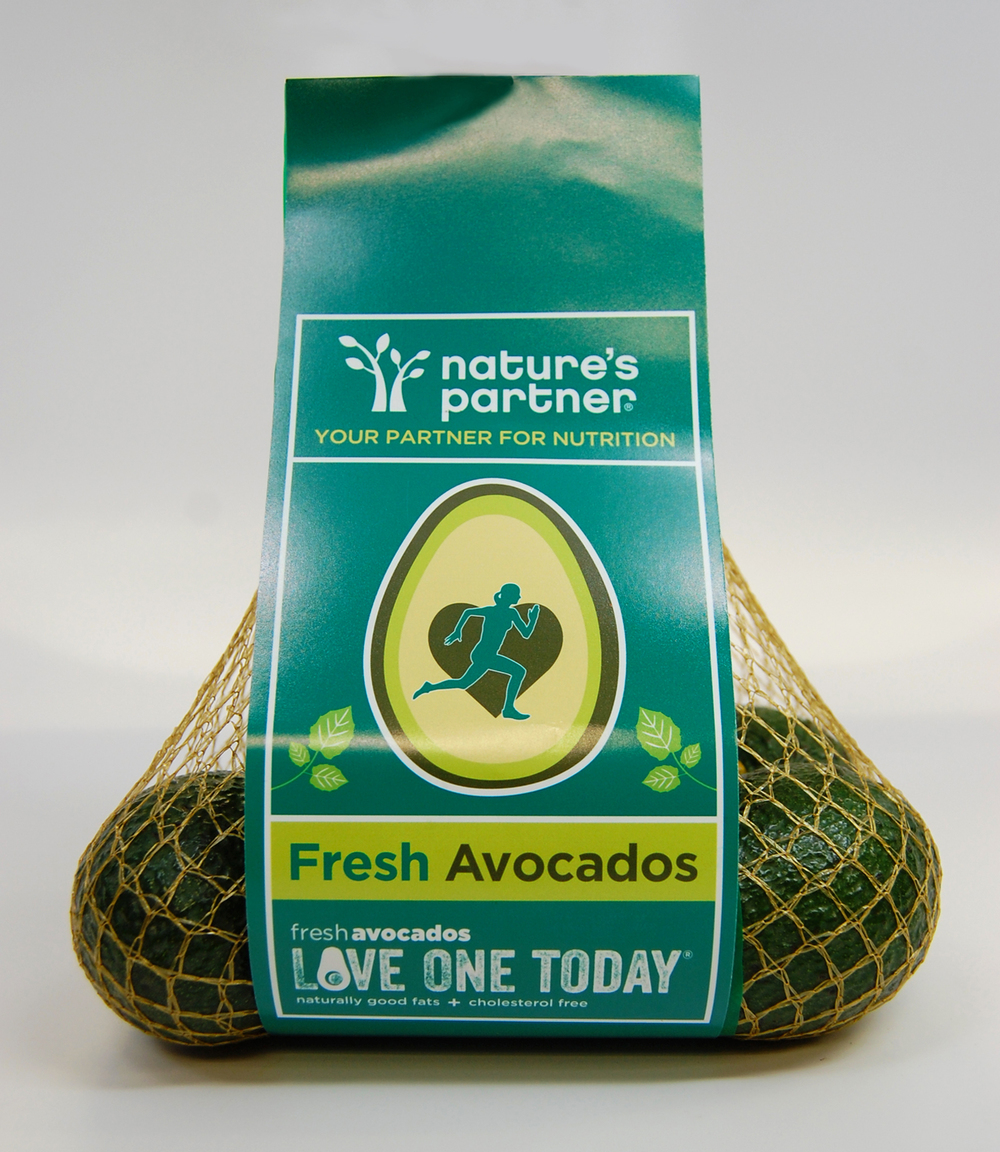 Nature's Partner front of avocado bag. Click here to download high resolution image.