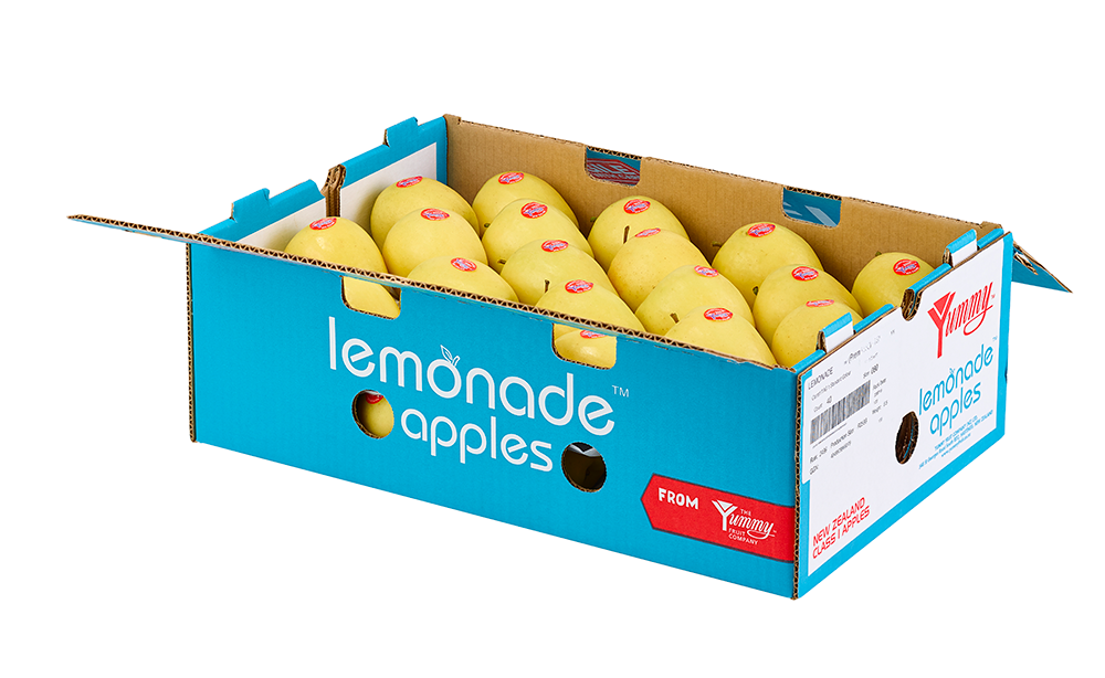 Lemonade apple packaging.  Access high resolution image.