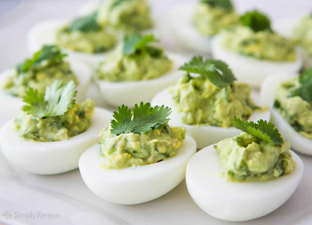 Mayonnaise Replacement - In many savory recipes, you can use avocados as a mayonnaise replacement. Try them in chicken salad or deviled eggs, as shown here.Photo and recipe via: Simply Recipes