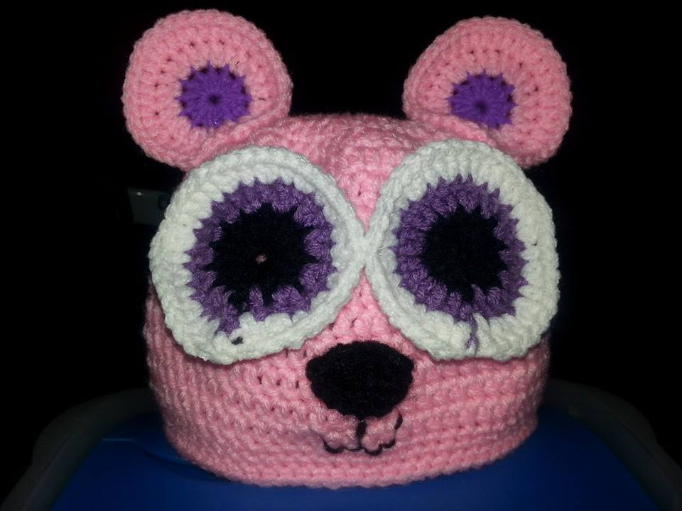 One of Shani's hats that went to a child having knee surgery.