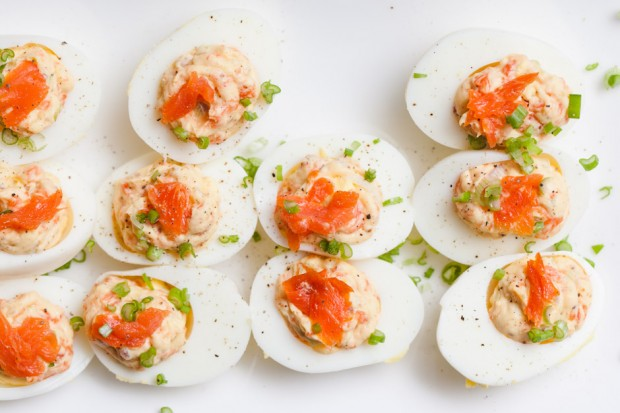 Smoked Salmon Deviled Eggs — SAM THE COOKING GUY