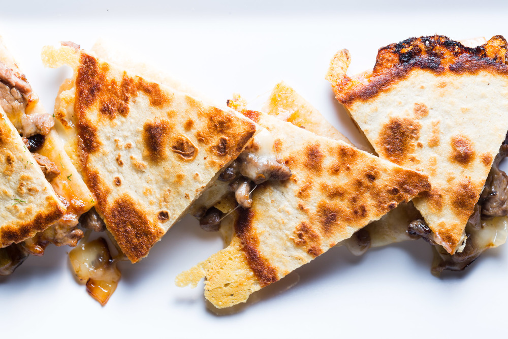 LEFTOVER STEAK, PEPPER & ONION  QUESADILLA
