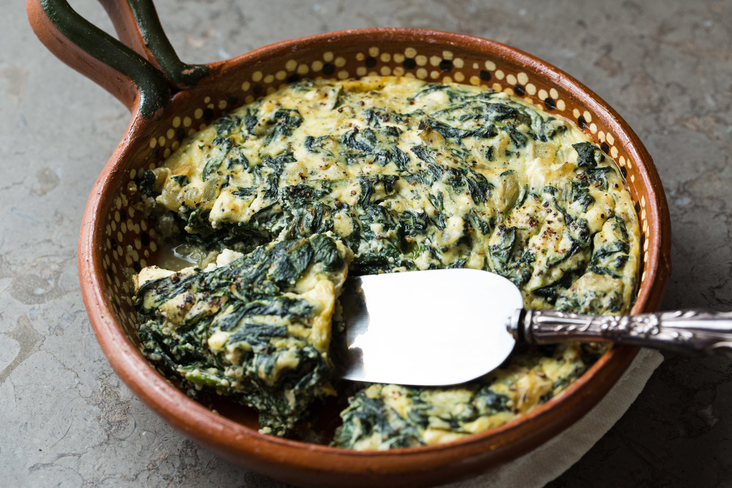 spinach, ricotta & feta soufflÉ — sam the cooking guy