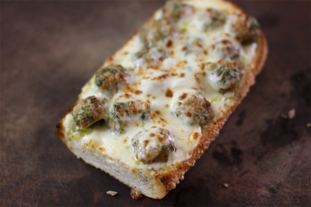 PESTO MEATBALL PIZZA