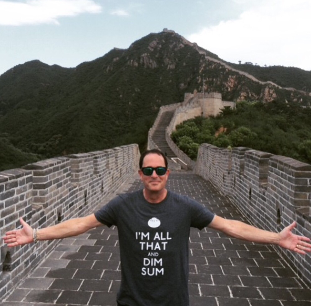 At THE GREAT WALL... in THE perfect shirt. @badpickletees #Beijing #phenomenal