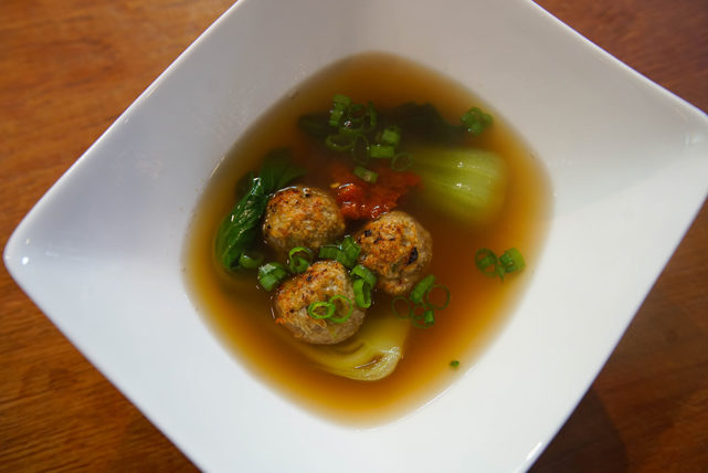 ASIAN CHICKEN MEATBALL SOUP RECIPE