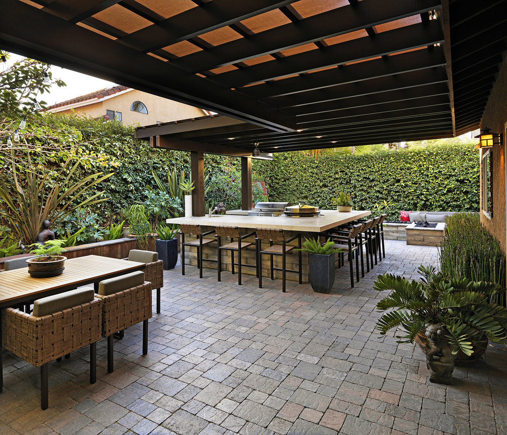The Stools, Dining Table/chairs And Sofa Have Turned The Backyard Into What  Feels Like A Cool ...
