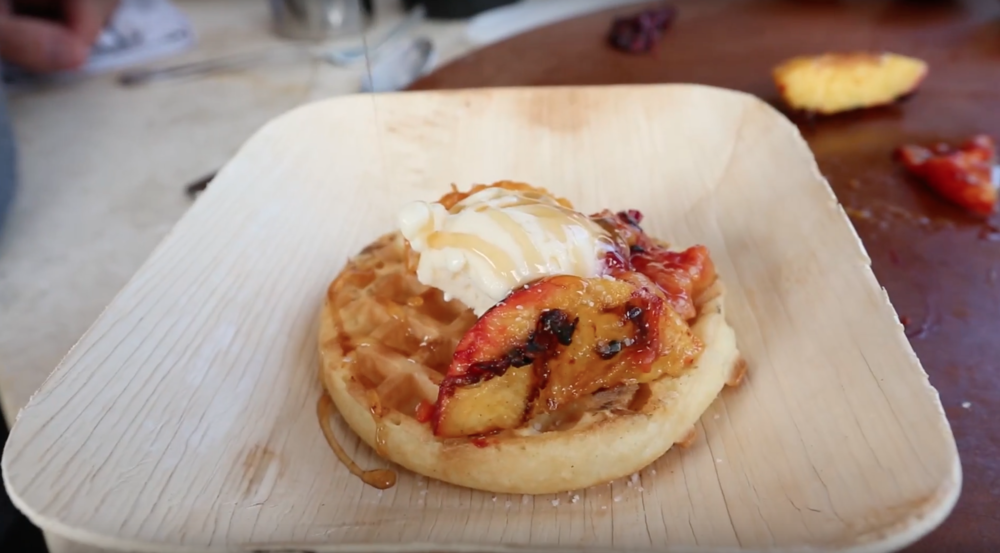 grilled peaches and waffles stcg