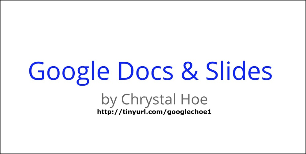 google docs google slides edtech field guide