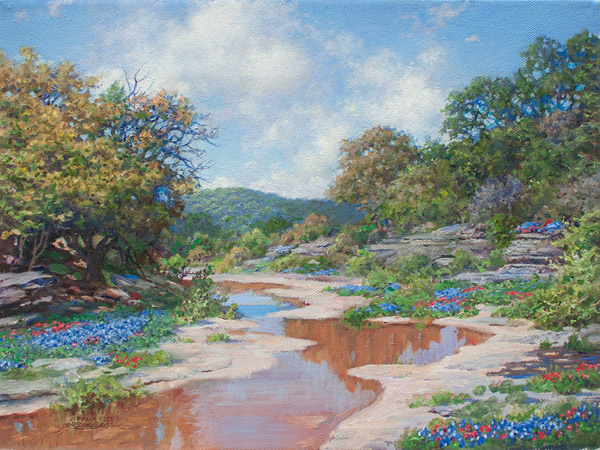 "Larry Dyke, ""Secluded Stream"""