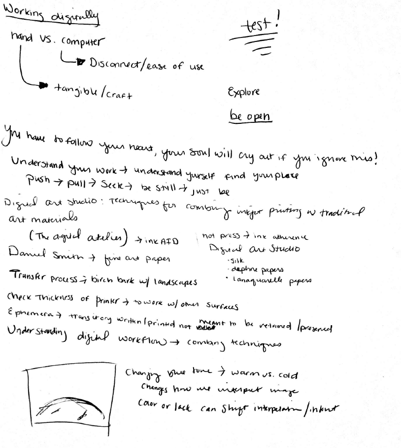 Scan of notebook entry