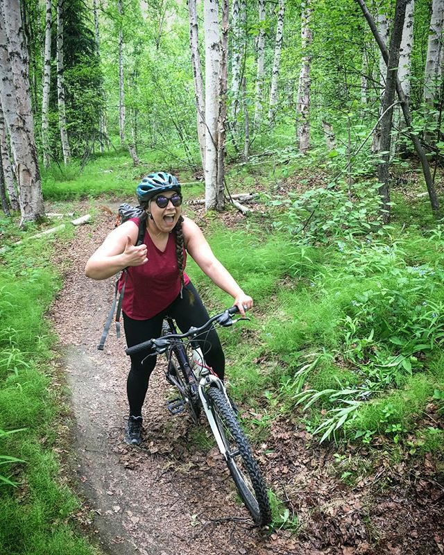 6 years of exploring Alaska and to celebrate I biked a new trail, crashed into a tree and lived to tell. Stoked for another 6 years! #alaska