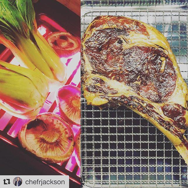 #Repost @chefrjackson ・・・ #itswhatsfordinner @popfoodstv  test kitchen tonight.